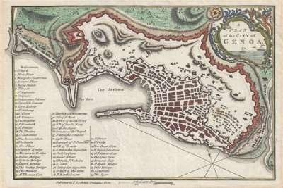 Карта Генуи
