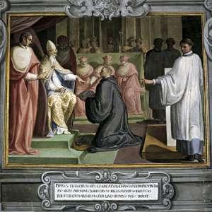 Пипин преподносит папе пожертвование