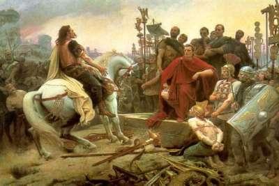 Галльская война. Сдача в плен галльского вождя