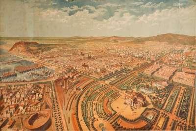 Иллюстрация Античной Барселоны