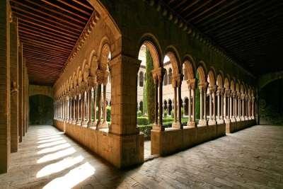 Вид на внутренний двор монастыря