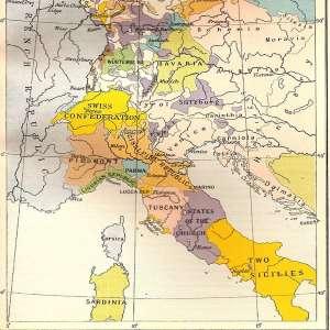 Границы государств после Кампоформийского мирного договора