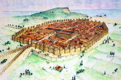 Иллюстрация Древней Барселоны