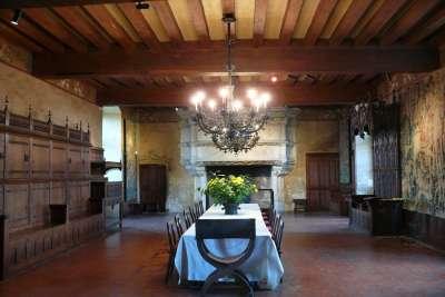 Одна из комнат замка Ланже