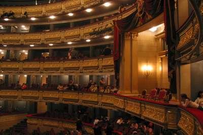 Балкон в зале Мадридской оперы