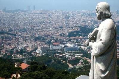 Вид на Барселоны с горы Тибидабо