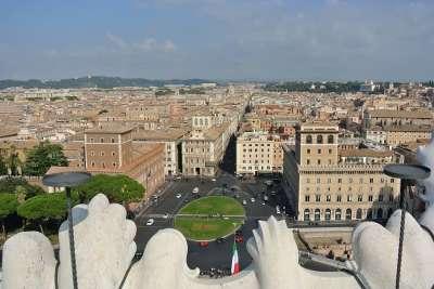Вид на Палаццо Венеция