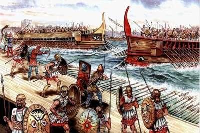 Морское сражение между Карфагеном и Римом