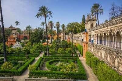 Сад замка Алькасар