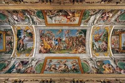 Роспись потолка во дворце Фарнезе
