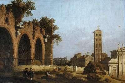 Базилика Максенция на картине Каналетто