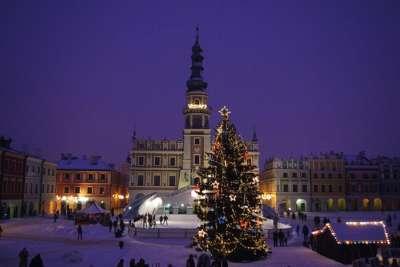 Замосць на Рождество