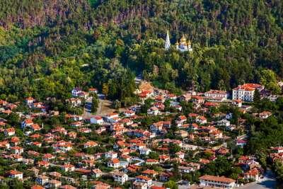 Деревня Шипка. Вид с высоты птичьего полета.