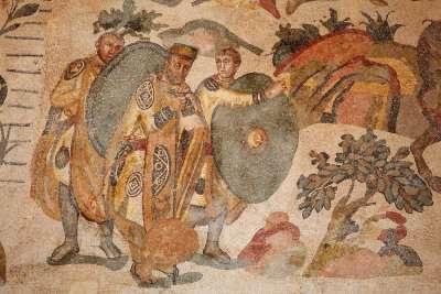 Древнеримская мозаика на Сицилии