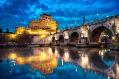 Мост Адриана ночью
