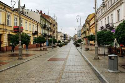 Улица Генриха Сенкевича в городе Кельце