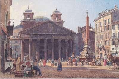Пантеон на картине 1835 года