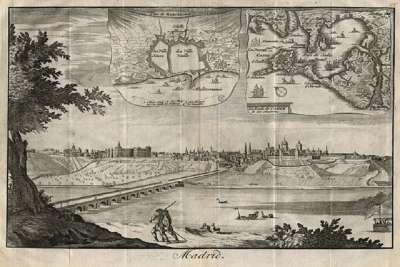Средневековая гравюра с видом Мадрида