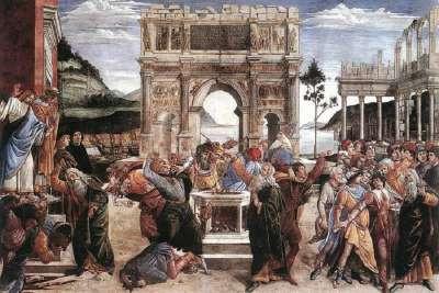 Сцена из жития Моисея в Сикстинской капелле