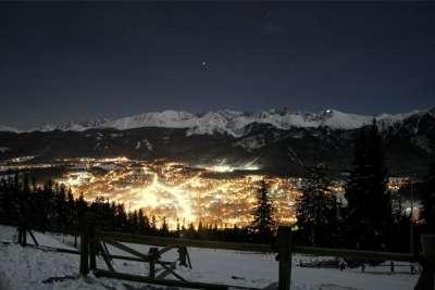 Вид на ночной курорт