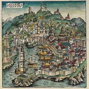 Карта Генуи 15 век