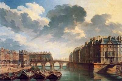 Мост на картине 18 века
