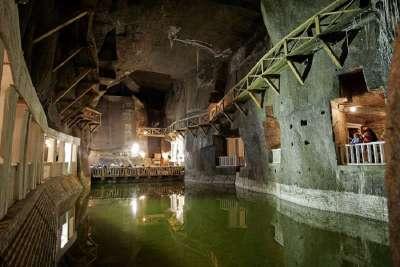 Подземное озеро в шахте