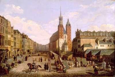 Суконные ряды на картине 1836 года
