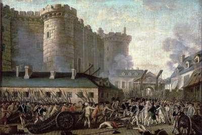 Штурм Бастилии на картине