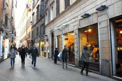 Бутики на улице dei Giubbonari