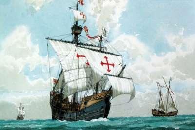 Иллюстрация кораблей экспедиции Колумба