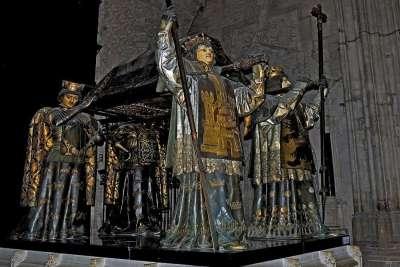 Могила Колумба в соборе Севильи