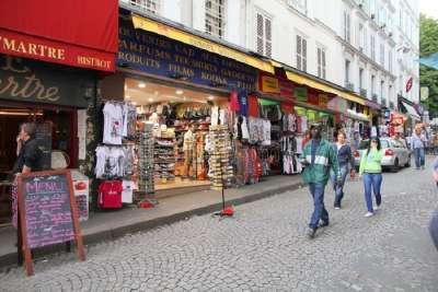 Шоппинг улица в Париже