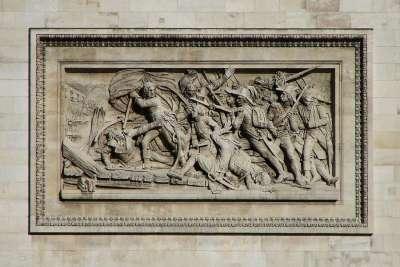 Изображения на Триумфальной Арке. Бой при Арколе