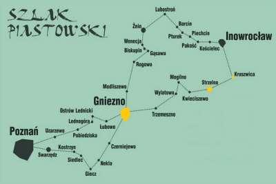 Карта Пястовского пути