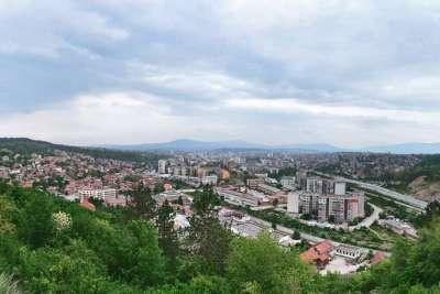Перник. Болгария. Панорама города