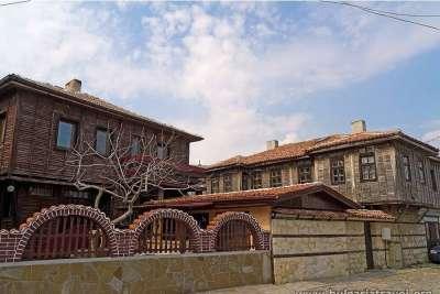 Старые дома города Поморие.