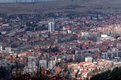 Панорама города Кюстендил