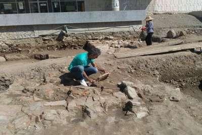 Раскопки древнего города Пауталия на территории Кюстендила