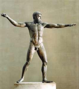 Бронзовая статуя Посейдона