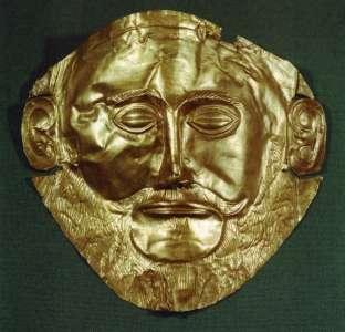 Маска Агамемнона, XV век до н.э. Золото