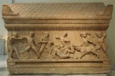 Саркофаг с изображением Калидонской охоты. 150-170 гг