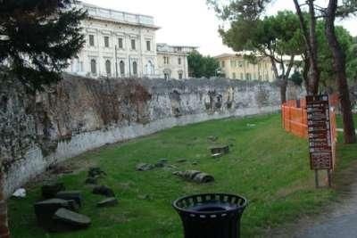 Руины крепостных стен