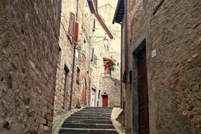 Старый город Ареццо в Тоскане