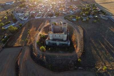 Вид на замок сверху