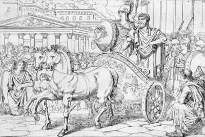 Писистрат въезжает в Афины