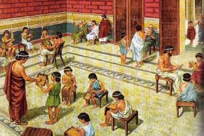 Класс в афинской школе