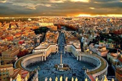 Столица Италии Рим с высоты птичьего полета