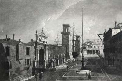 Арсенал в Венеции, гравюра 18 века