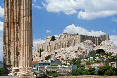 Вид с Храма Зевса на Акрополь